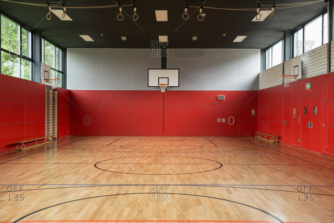 Interiors of a sports hall, Munich, Bavaria, Germany