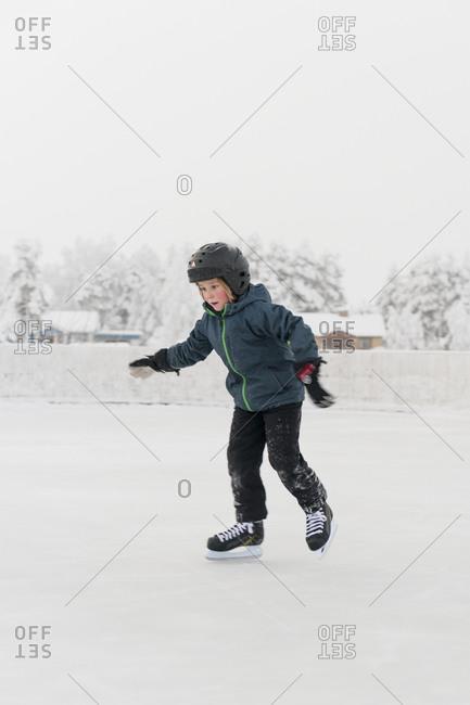 Girl ice-skating