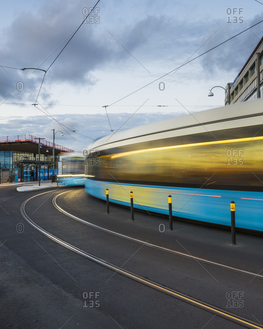 Trams in city of Gothenburg