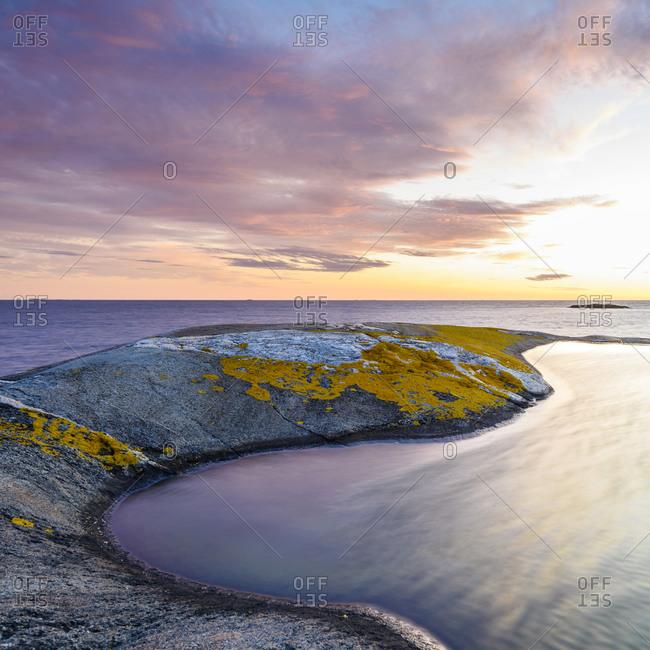 Scenic coast at sunset, Halland