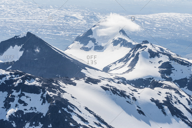 Aerial view of mountains, Norrbotten