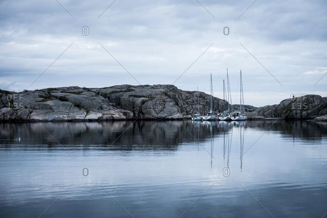 Sailboats in bay, Bohuslan