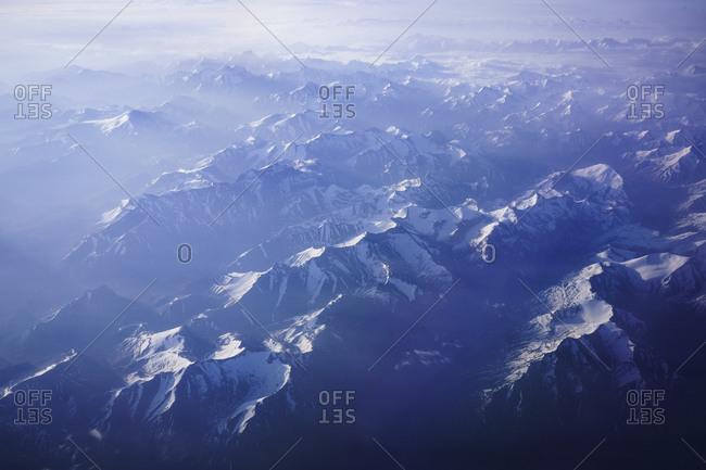 Snowy Himalayan mountain range