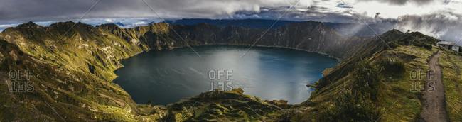Crater lake in Quilatoa, Ecuador