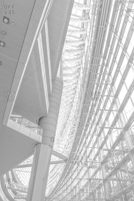 Interior of open design high rise