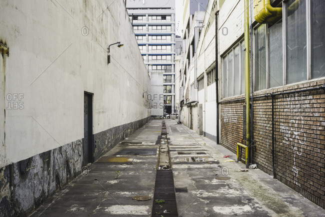 Lone alleyway in Buenos Aires