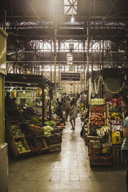 argentina, buenos aires - January 20, 2015: A produce market in Buenos Aires