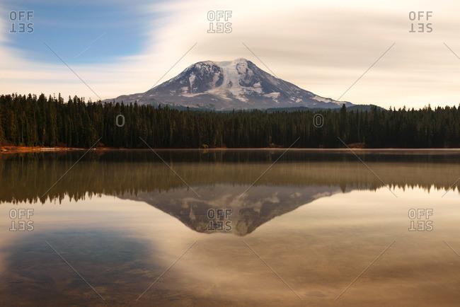 Takhlakh Lake and Mount Adams in Washington
