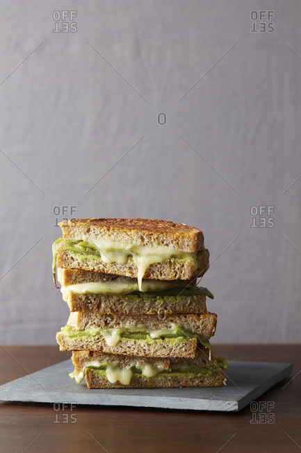 Chili relleno grilled cheese sandwiches