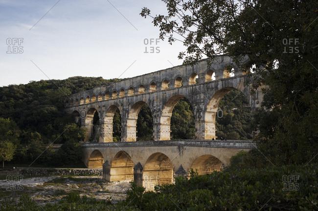 Pont du Gard over Gardon River, France