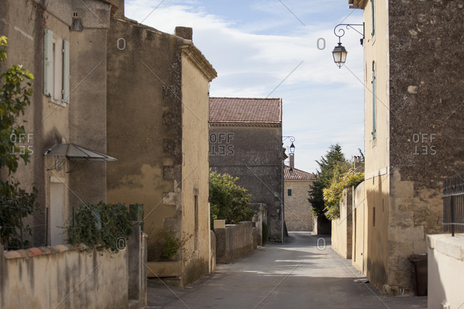 Empty street amidst residential buildings, Provence-Alpes-Cote D'azur, France