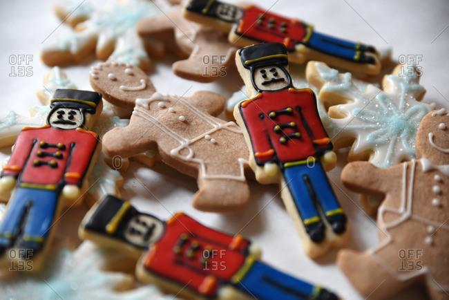 Variety of sugar cookies