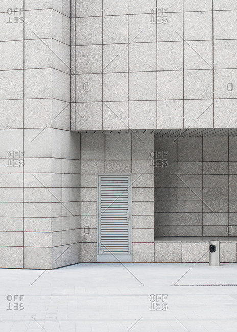 Grid patterned building exterior