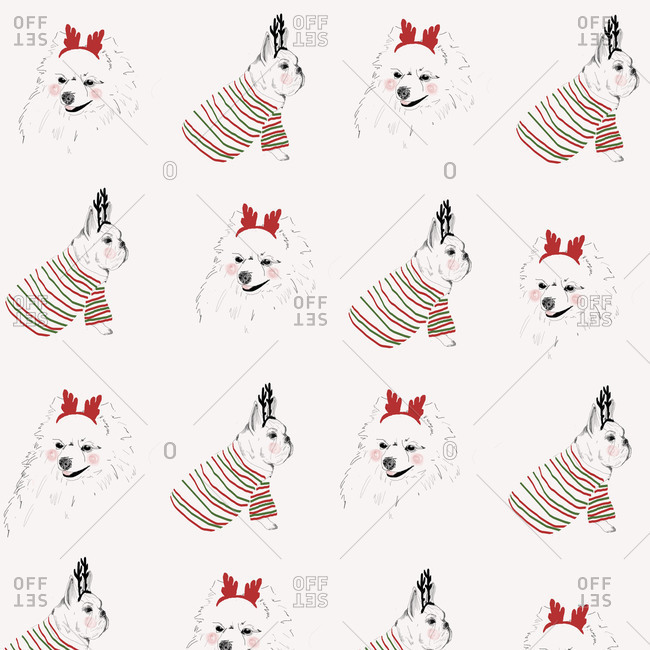 Holiday dogs from the Offset Collection