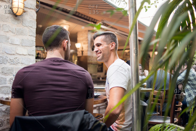 Two man at cafe in Tel Aviv