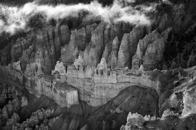 Hoodoo rock spires in Bryce Canyon National Park
