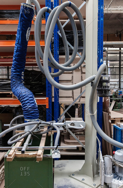 Hoses in a furniture factory