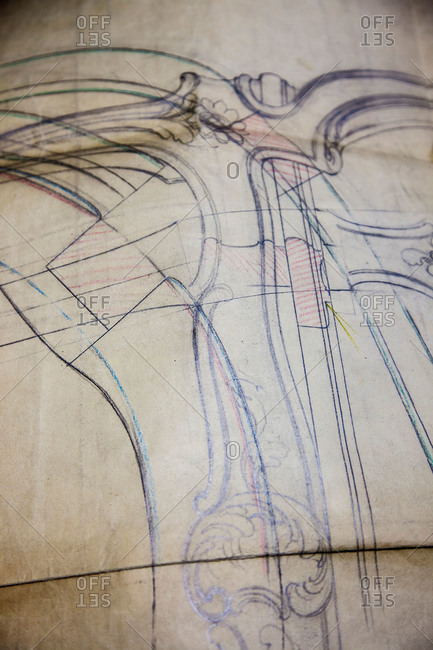 Sketch for furniture making