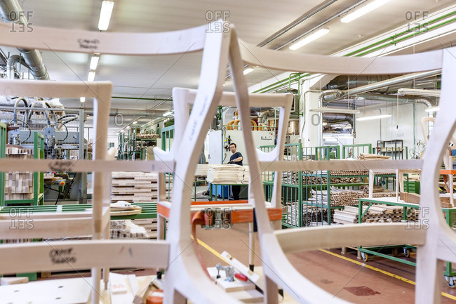Meda, Brianza, Italy - July 21, 2015: Furniture assembly in Italian factory
