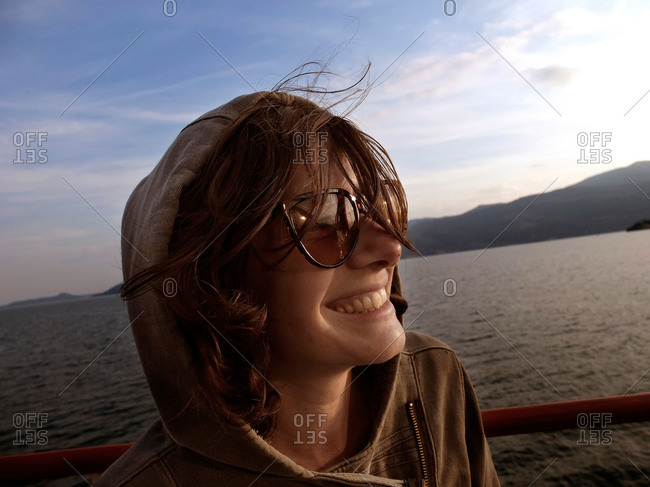 Woman on Lake Maggiore, Italy