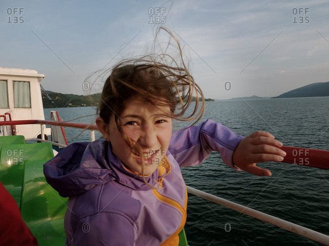 Girl on Lake Maggiore, Italy