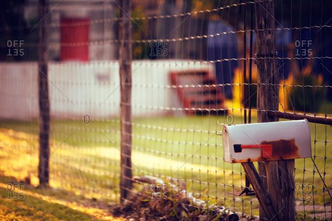 A rural mailbox by fence, San Antonio