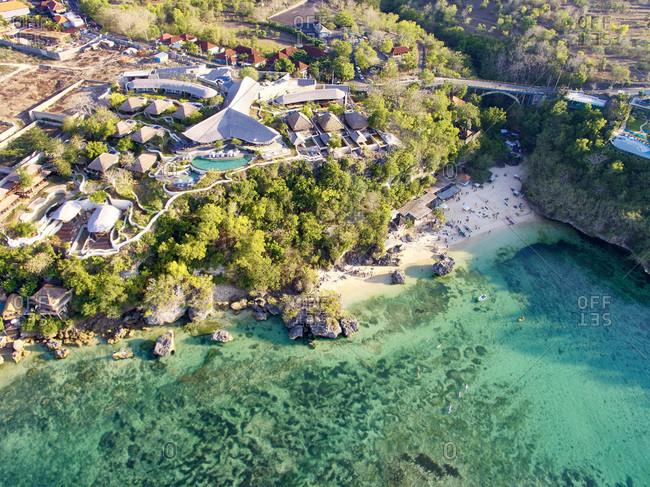 Resort development by a coastline