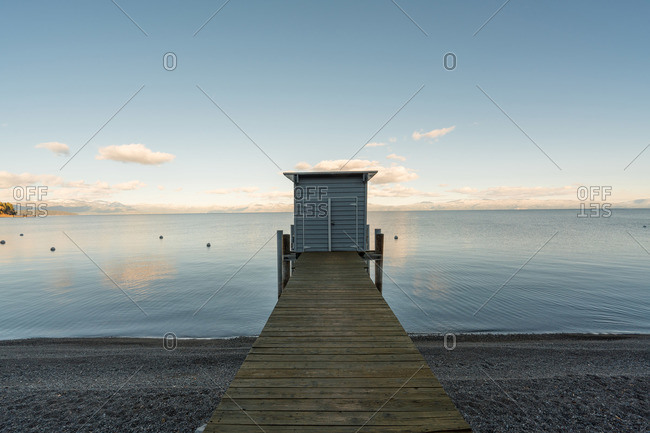 Shelter at end of a dock