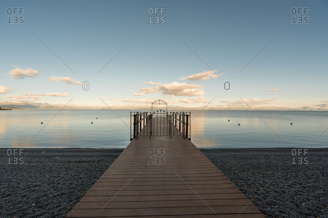 Frame at end of gated dock