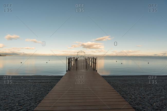 Frame at end of gated dock