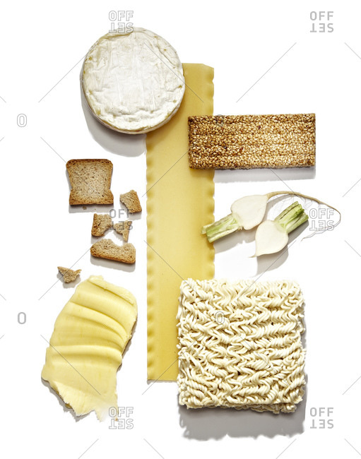 Various dry and spread foods
