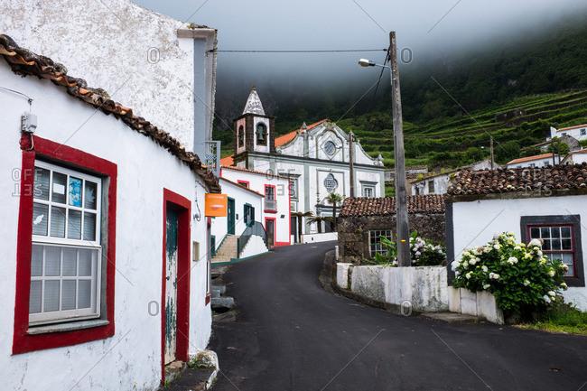 Village and church at Fajazinha, Portugal