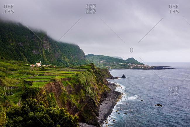 Coastline along Ponta da Faja, Portugal