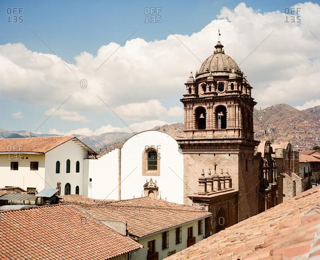 Church bell tower in Cusco, Peru