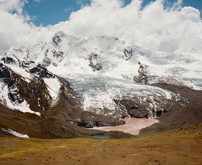Ausangate glacier in the Andes Mountains of Peru