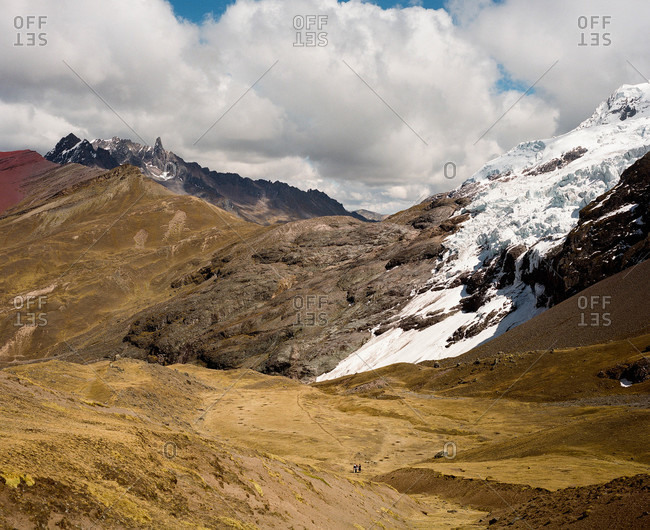 Landscape at Ausangate in the Andes Mountains of Peru