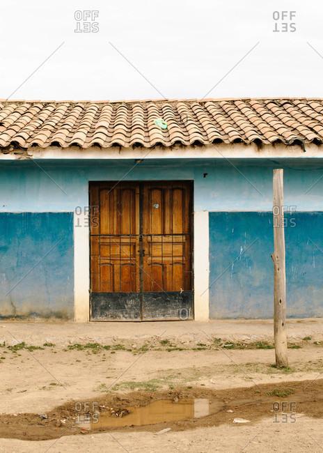 Doorway of a building in Tinki, Peru