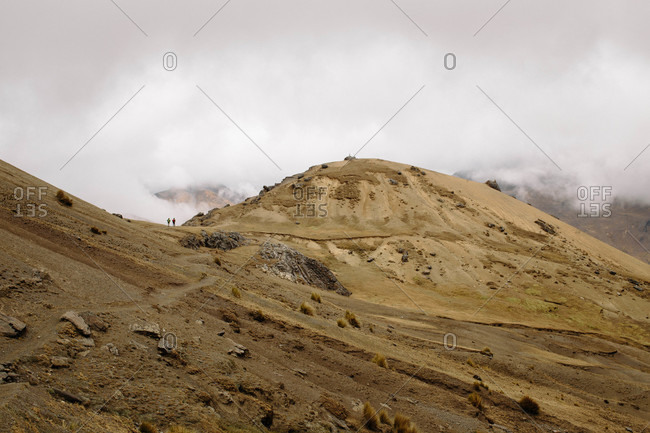 Trekking near Ausangate in the Andes Mountains of Peru