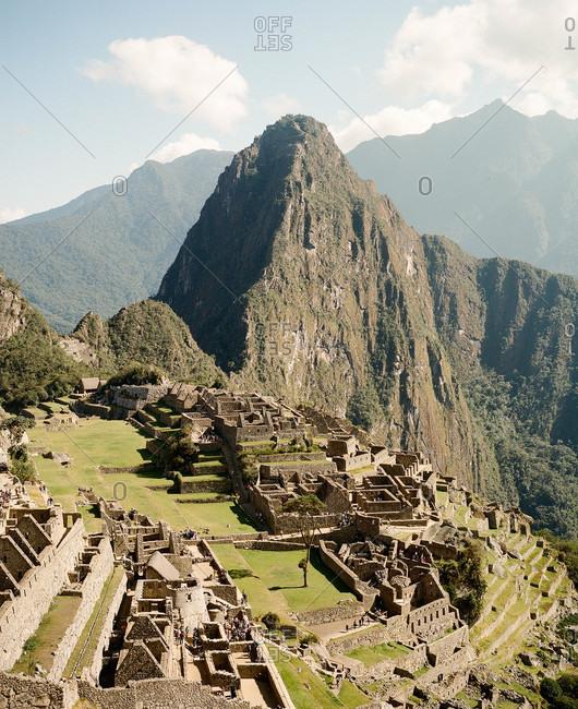 Overview of Machu Picchu in Peru