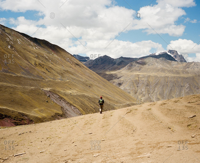 Hiking at Ausangate in the Andes Mountains in Peru
