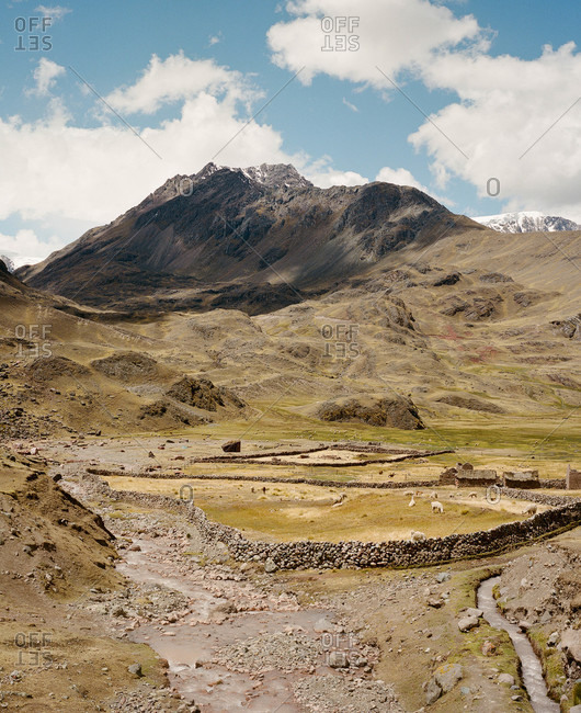 Farm near Ausangate in the Andes Mountains of Peru