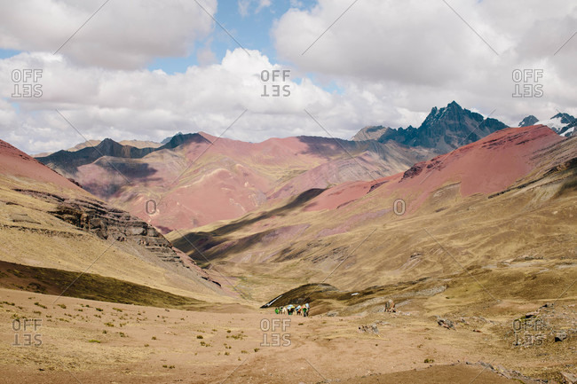 Trekking in Ausangate in the Andes Mountains of Peru