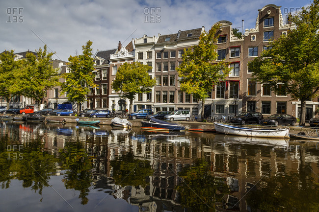 Amsterdam, Netherlands - September 6, 2012: Houses on the Keizersgracht canal, Netherlands