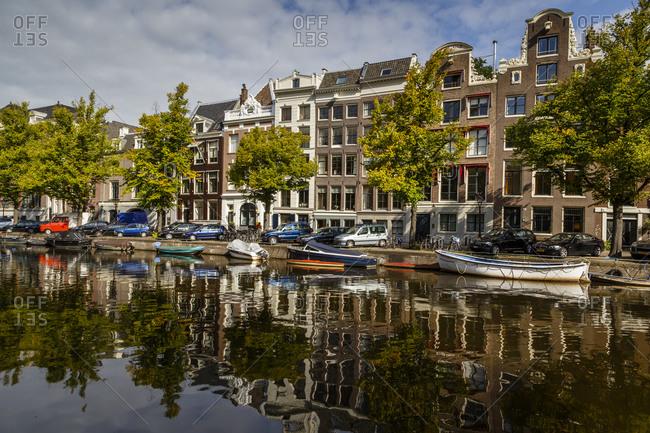 Amsterdam, Netherlands - September 6, 2012: Houses on the Keizersgracht canal, Netherlands