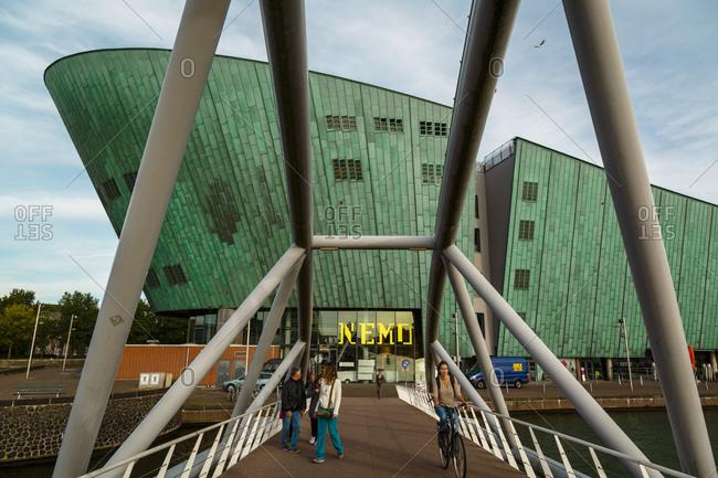 Amsterdam, Netherlands - September 6, 2012: Science Center Nemo Museum, Oosterdock