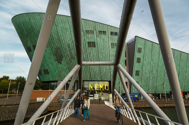 Amsterdam, Netherlands - September 6, 2012: Science Center Nemo Museum, Oosterdock