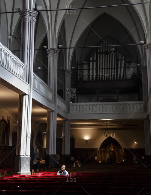 Amsterdam, Netherlands - September 7, 2012: De Papegaai church, Nieuwe Zijde
