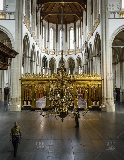 Amsterdam, Netherlands - September 7, 2012: Nieuwe Kerk Cathedral