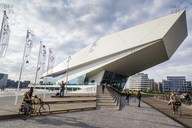 "Amsterdam, Netherlands - September 10, 2012: The ""EYE"" Film Institute and Museum, Amsterdam, Holland"