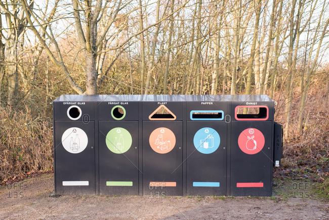 Recycling bins, Helsingborg, Sweden